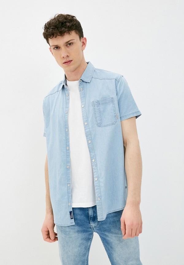 мужская джинсовые рубашка blend, голубая