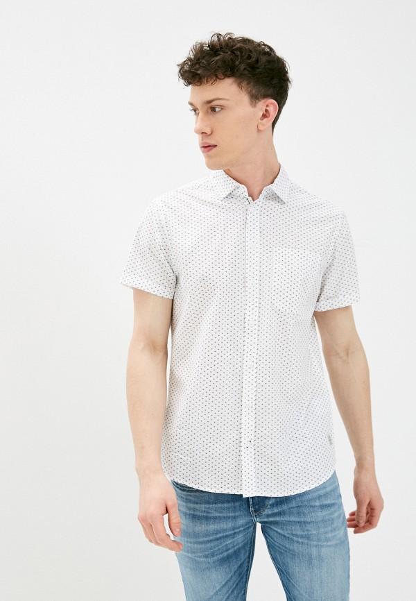 мужская рубашка с коротким рукавом blend, белая