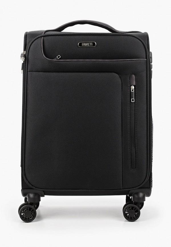 женский чемодан fabretti, черный