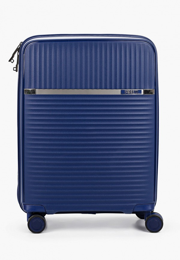 женский чемодан fabretti, синий