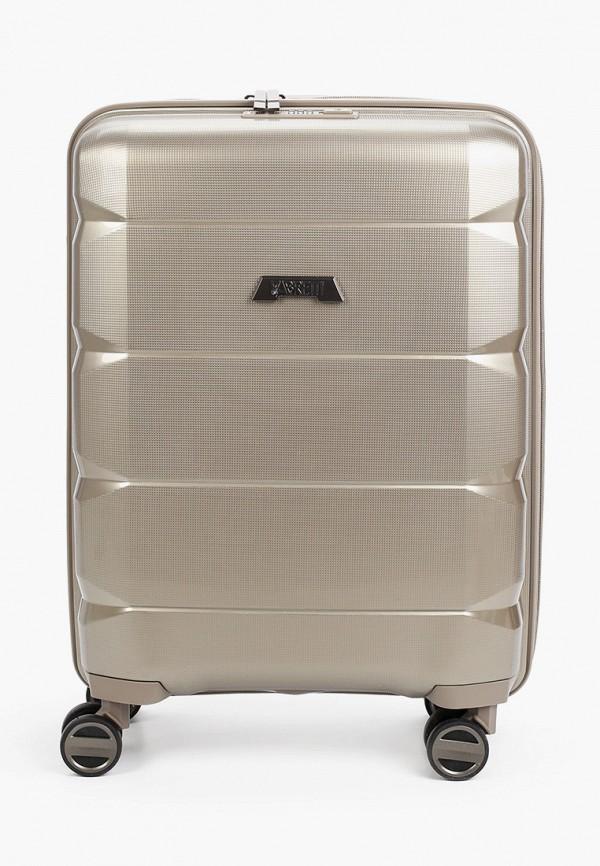женский чемодан fabretti, бежевый