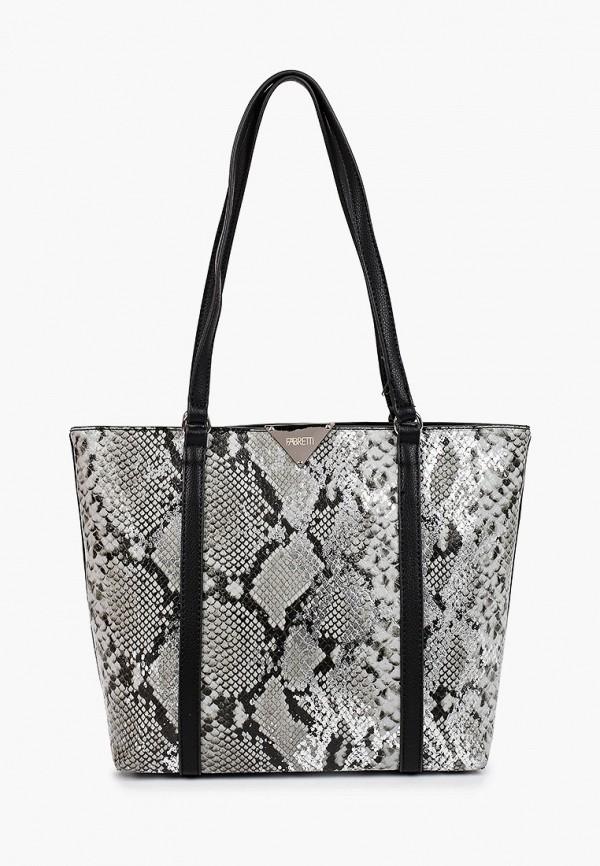 женская сумка-шоперы fabretti, серая