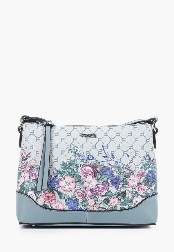 женская сумка через плечо fabretti, бирюзовая