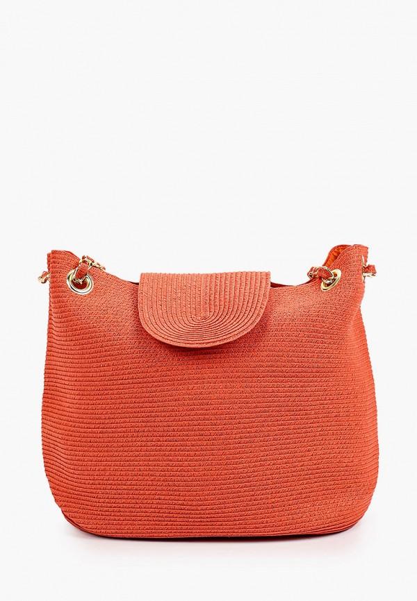 женская сумка с ручками fabretti, оранжевая