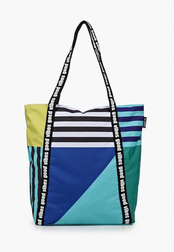 женская сумка-шоперы fabretti, бирюзовая