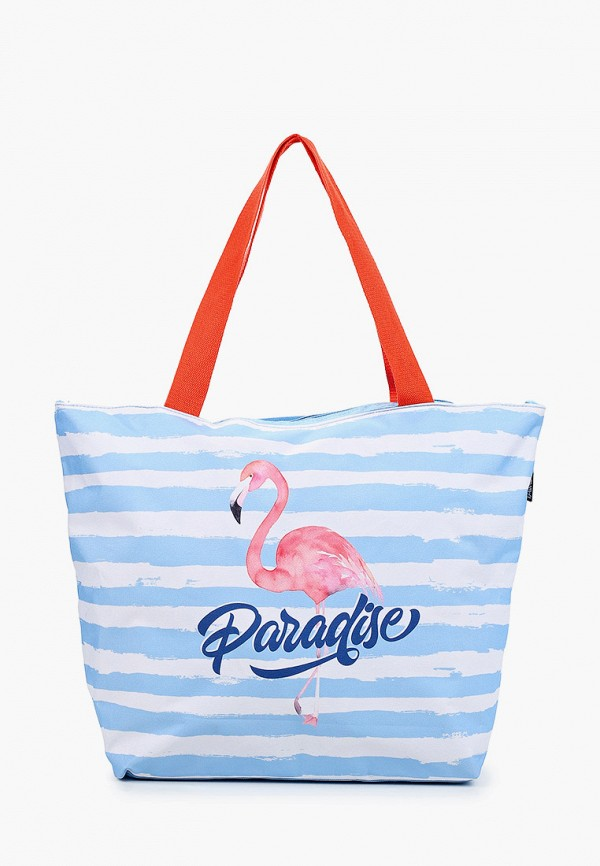 женская сумка-шоперы fabretti, голубая