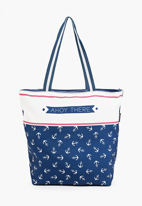 женская сумка-шоперы fabretti, синяя