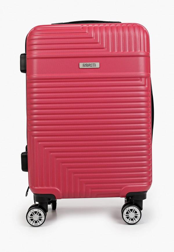 женский чемодан fabretti, розовый