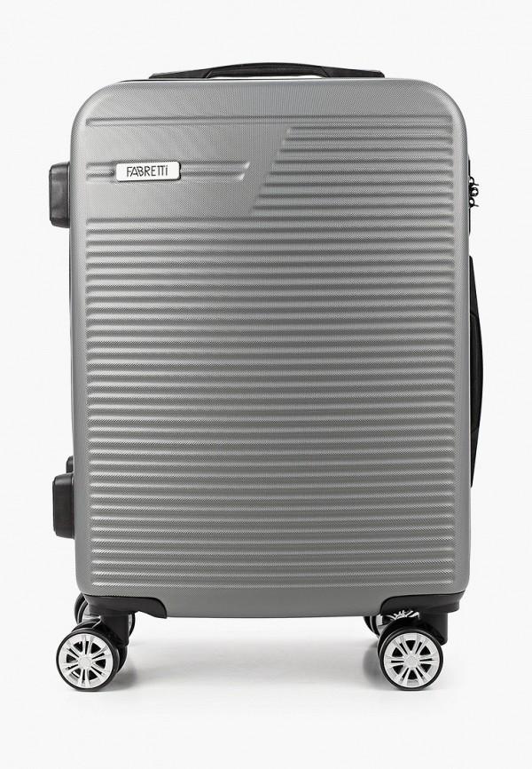 женский чемодан fabretti, серый