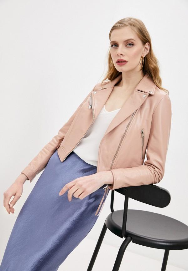 женская куртка blouson, розовая