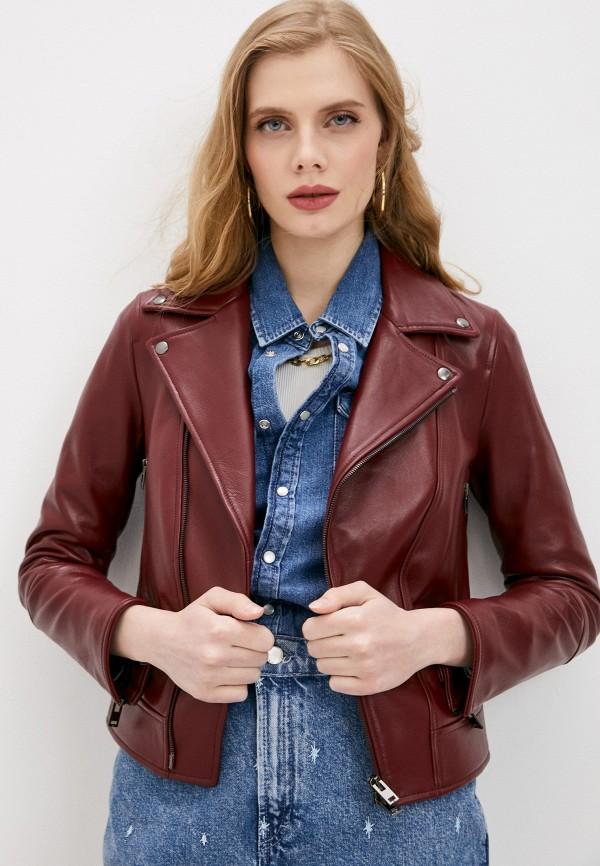 женская куртка blouson, бордовая