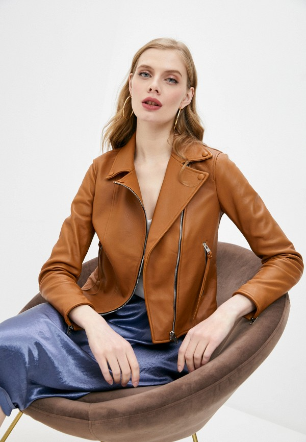 женская куртка blouson, коричневая