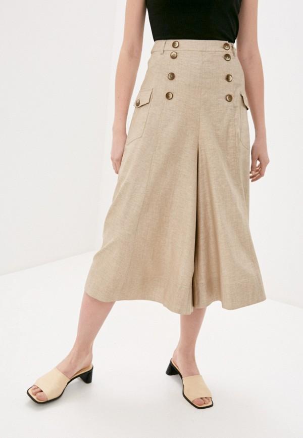 женские брюки клеш bulmer, бежевые