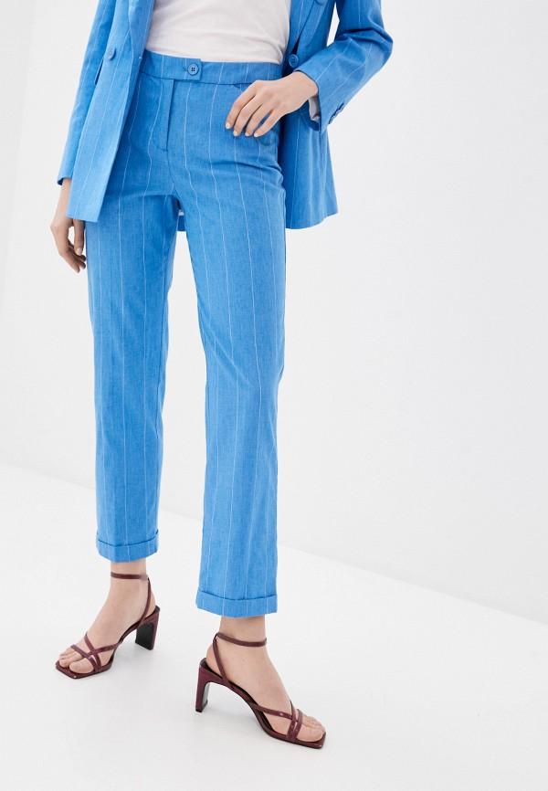 женские прямые брюки bulmer, голубые