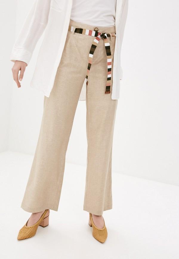 женские прямые брюки bulmer, бежевые