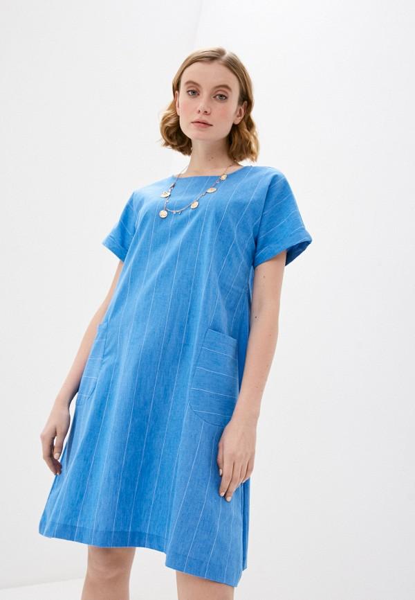 женское повседневные платье bulmer, голубое