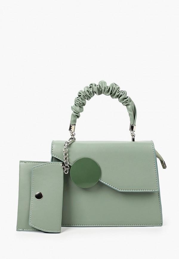 женский кошелёк с ручками allegri, зеленый