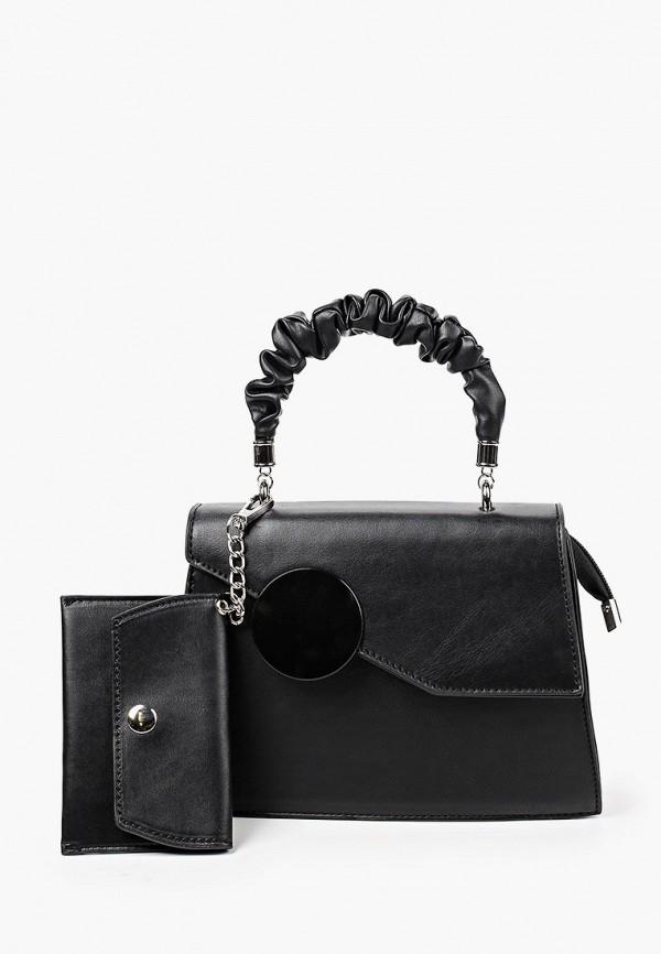 женский кошелёк с ручками allegri, черный
