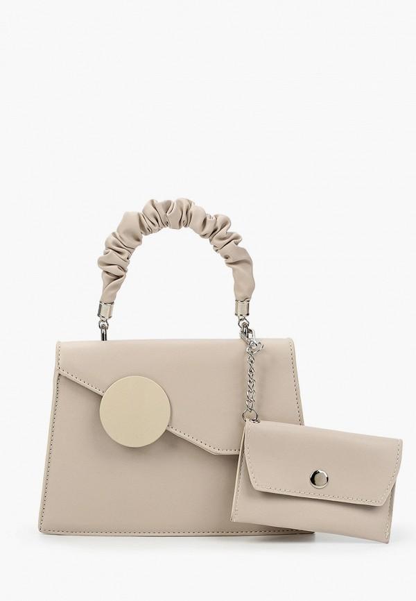 женская сумка через плечо allegri, бежевая