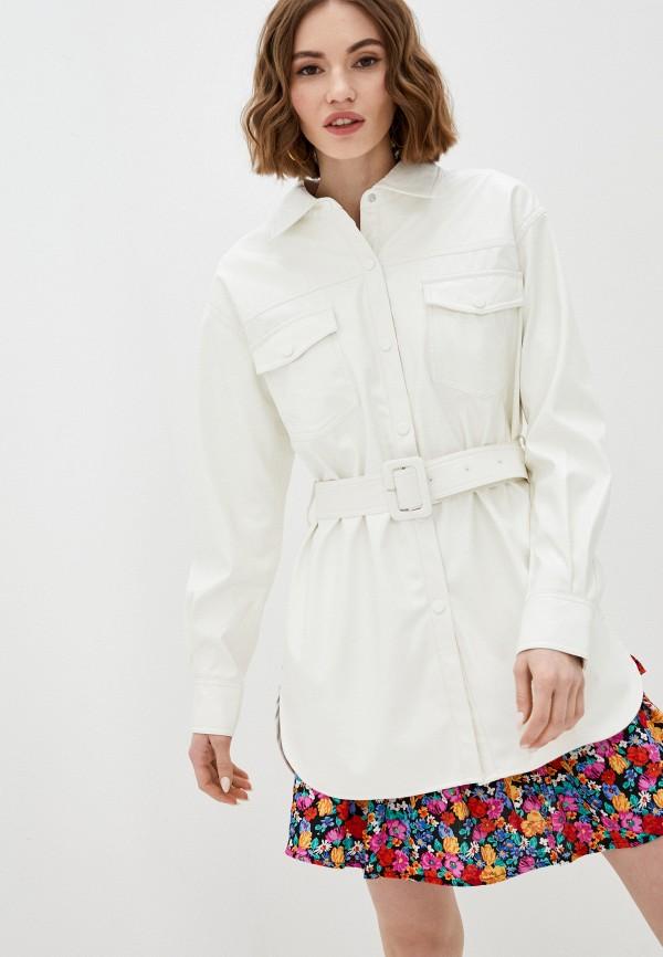 женская рубашка с длинным рукавом unq, белая