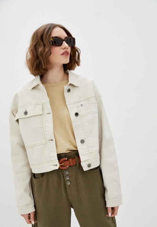 женская джинсовые куртка unq, белая