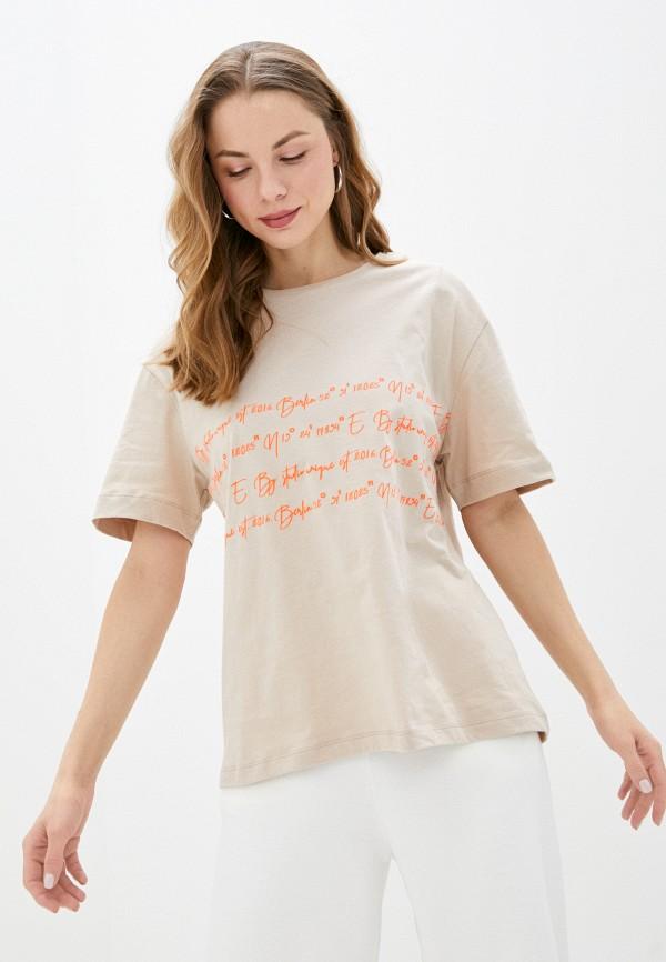 женская футболка unq, бежевая