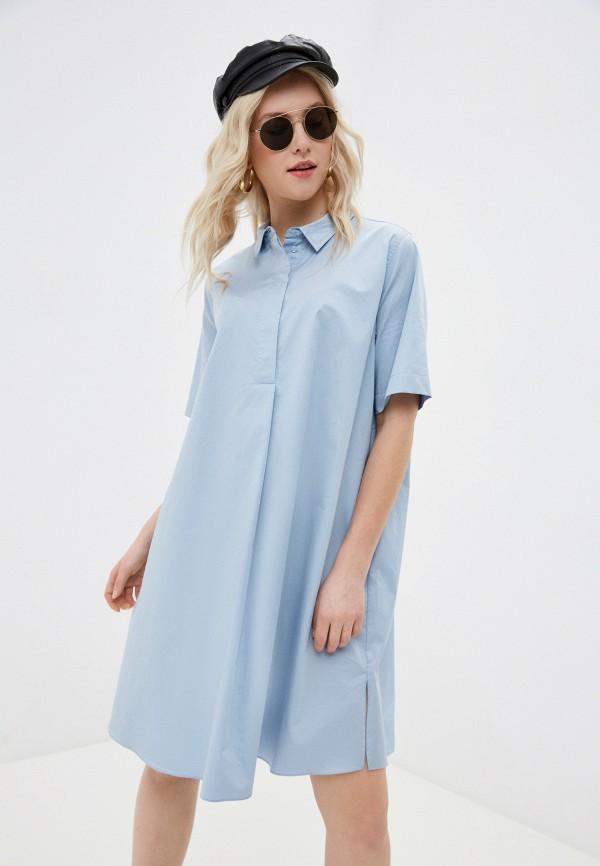 женское платье unq, голубое