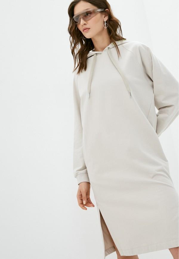 женское платье unq, бежевое