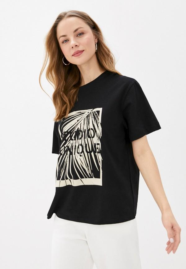 женская футболка unq, черная