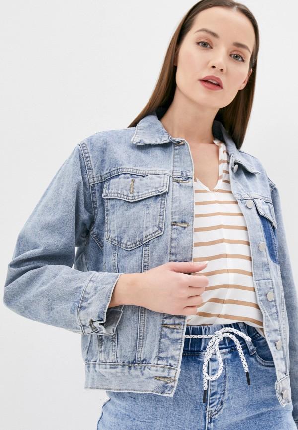 женская джинсовые куртка elsi, голубая
