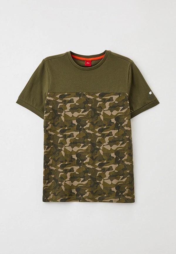 футболка с коротким рукавом s.oliver для мальчика, хаки