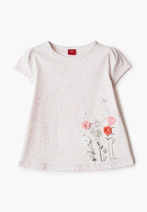 футболка с коротким рукавом s.oliver для девочки, серая
