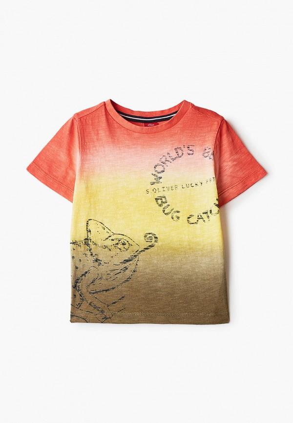 футболка с коротким рукавом s.oliver для мальчика, разноцветная