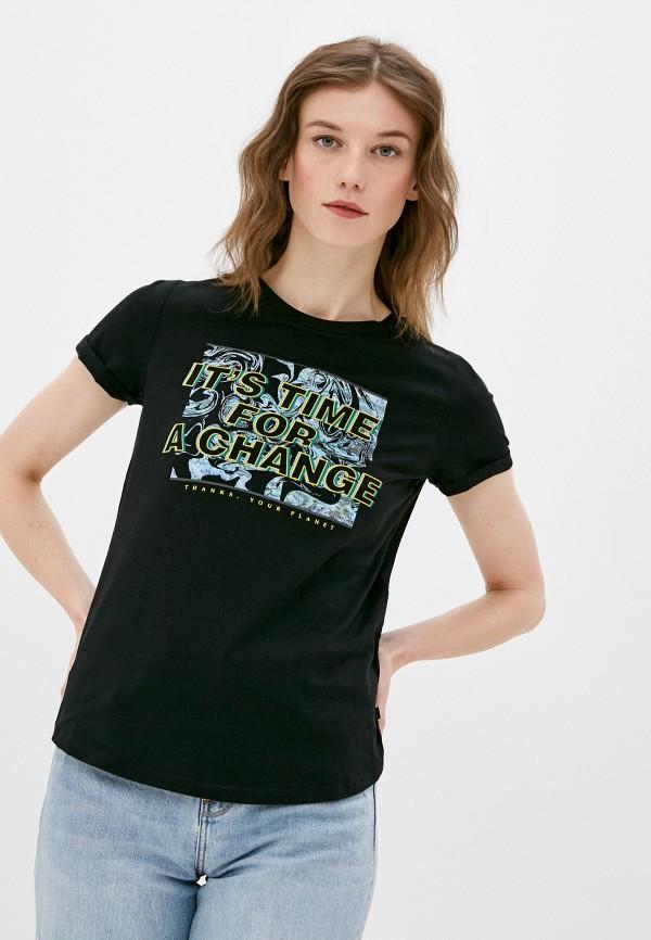 женская футболка q/s designed by, черная