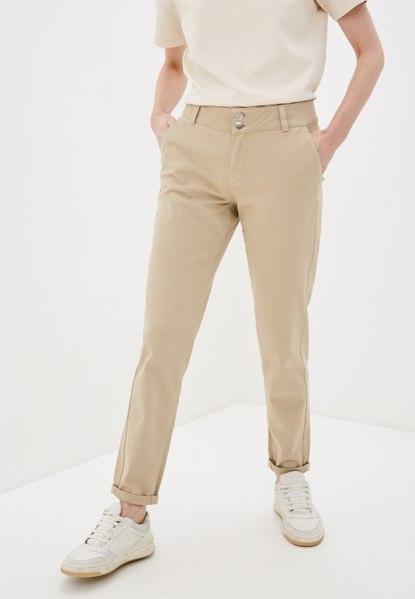 женские повседневные брюки q/s designed by, бежевые