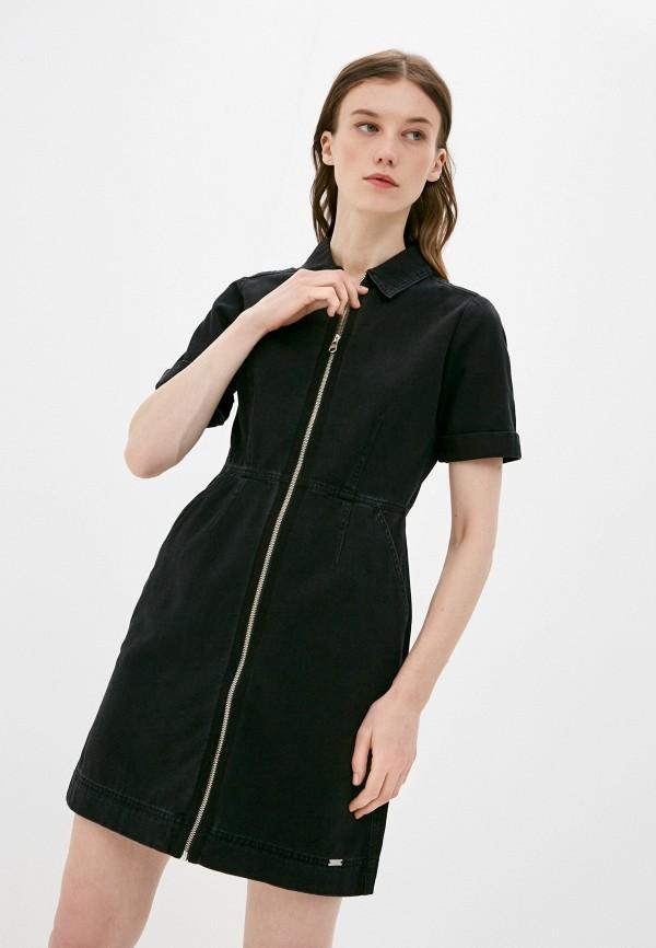 женское джинсовые платье q/s designed by, черное