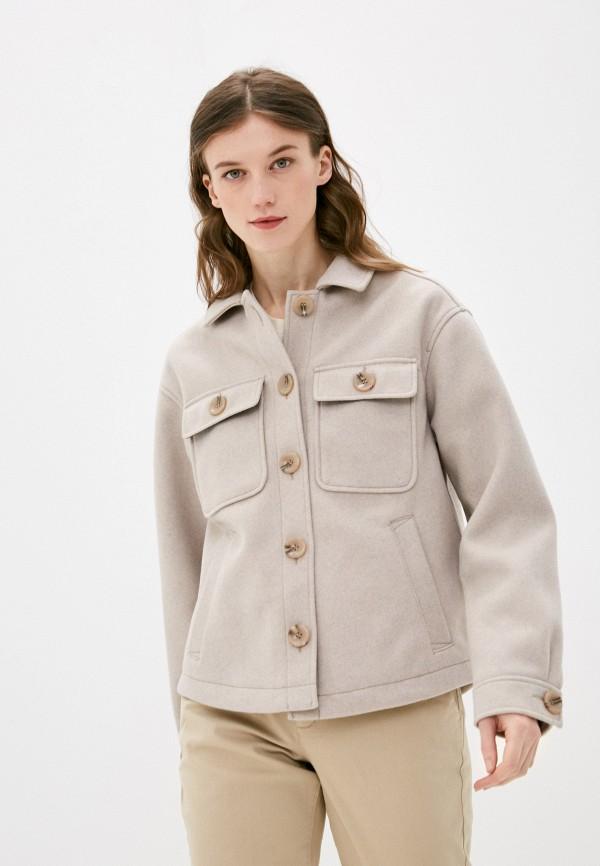 женское пальто q/s designed by, бежевое