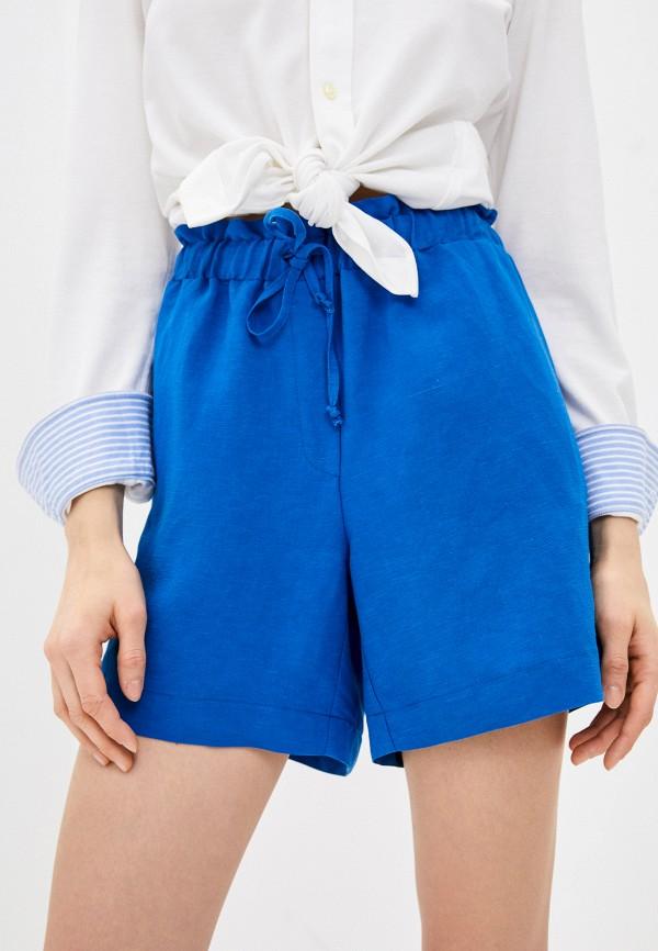 женские повседневные шорты pietro brunelli milano, синие