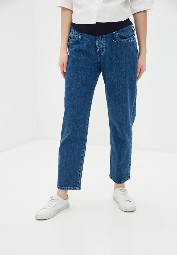 женские прямые джинсы pietro brunelli maternity, синие