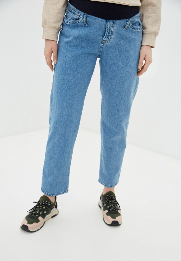 женские прямые джинсы pietro brunelli maternity, голубые