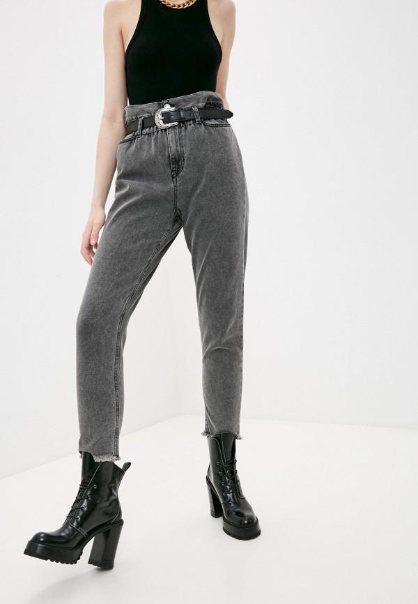 женские джинсы-мом liu jo, серые