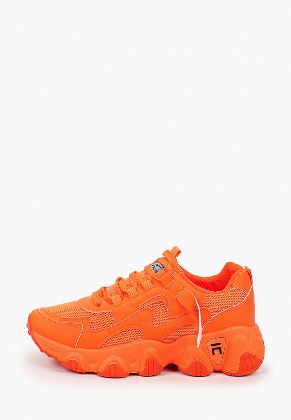 женские низкие кроссовки patrol, оранжевые