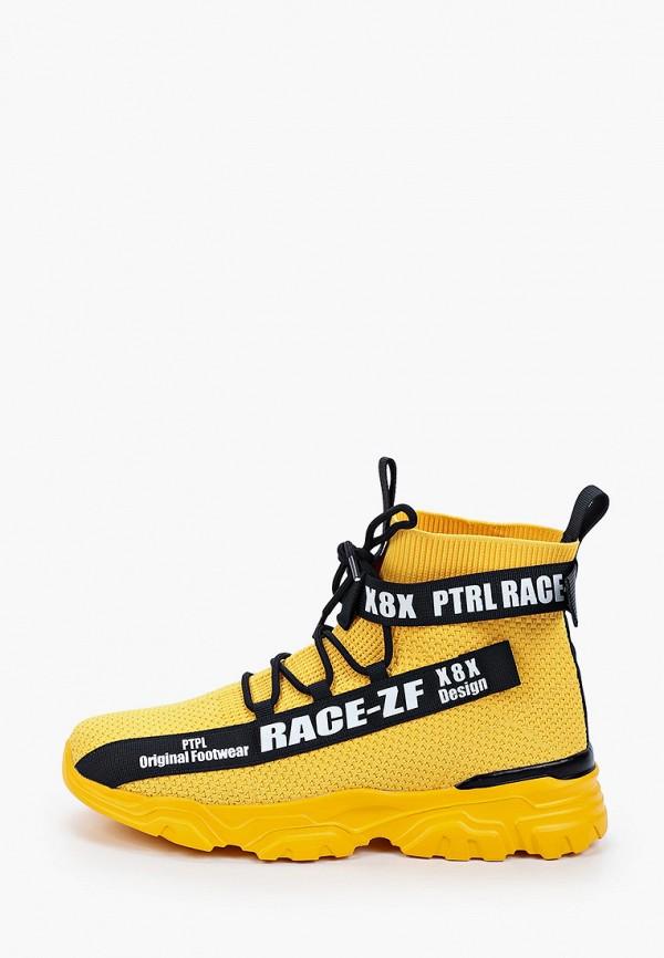 мужские высокие кроссовки patrol, желтые
