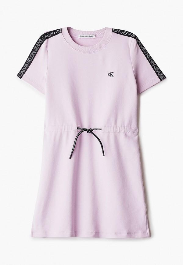 повседневные платье calvin klein для девочки, розовое