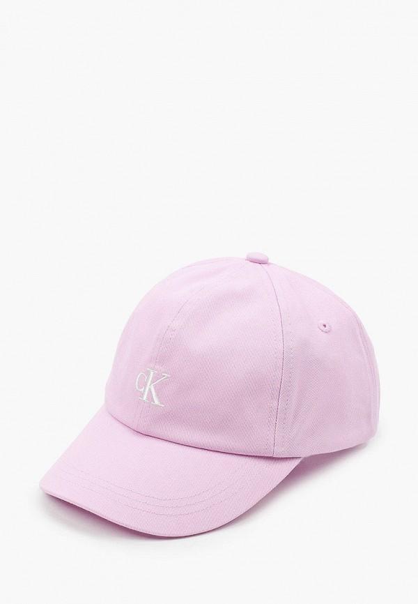бейсболка calvin klein для девочки, фиолетовая