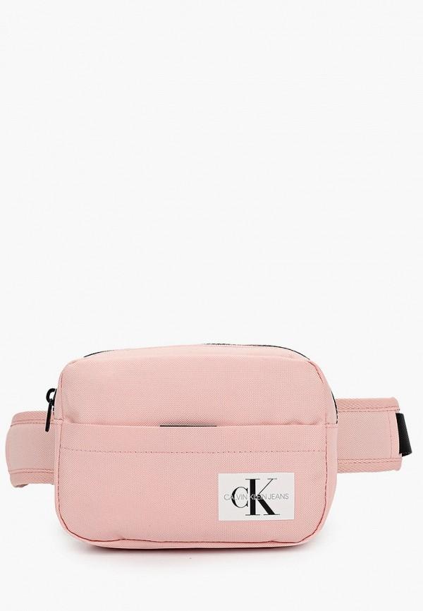 поясные сумка calvin klein для девочки, розовая
