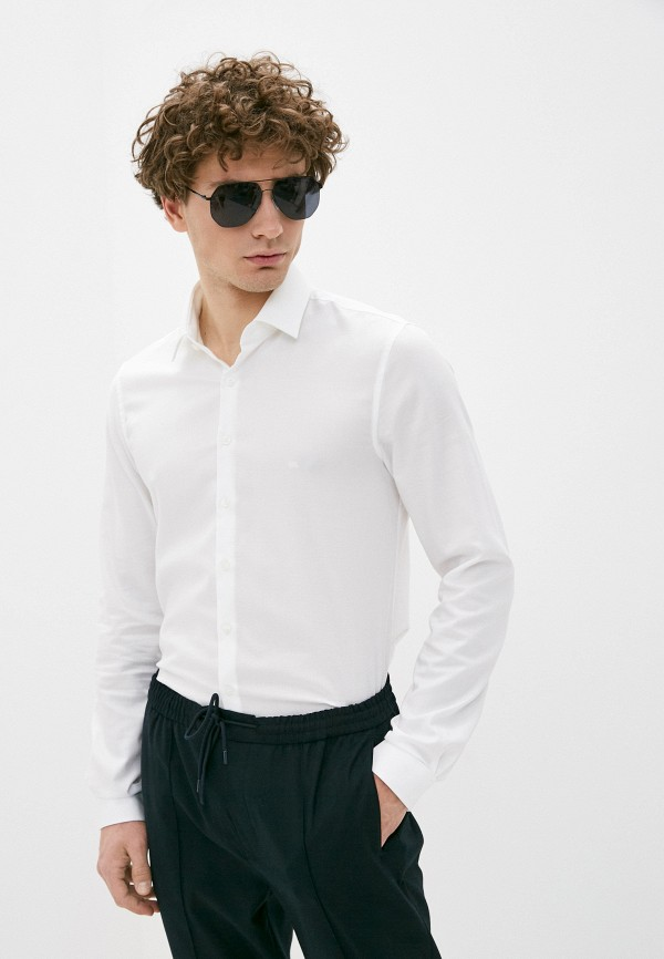 мужская рубашка с длинным рукавом calvin klein, белая