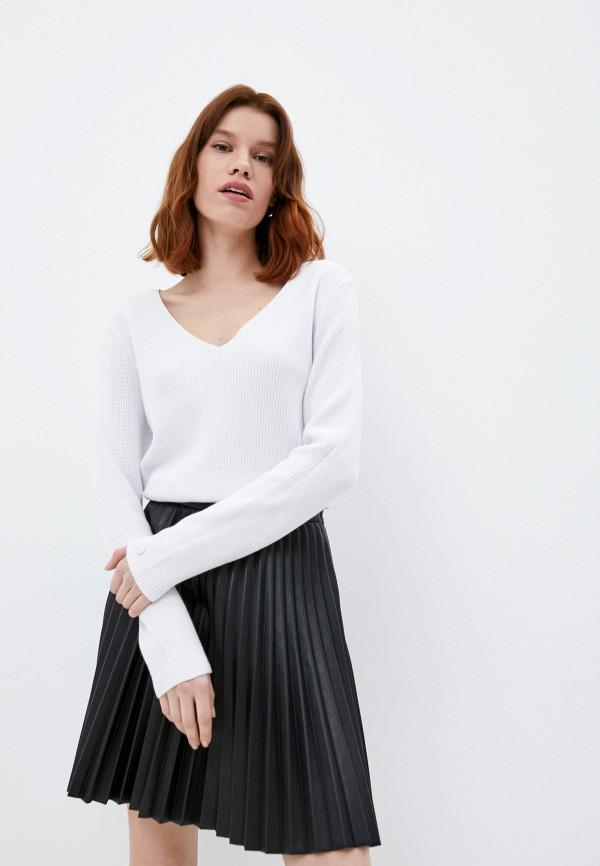 женский пуловер calvin klein, белый
