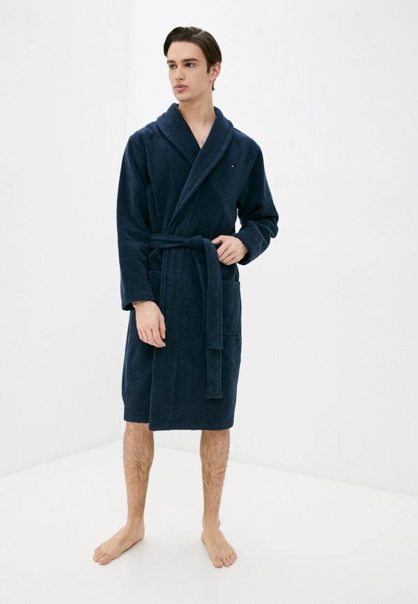 мужской халат tommy hilfiger, синий