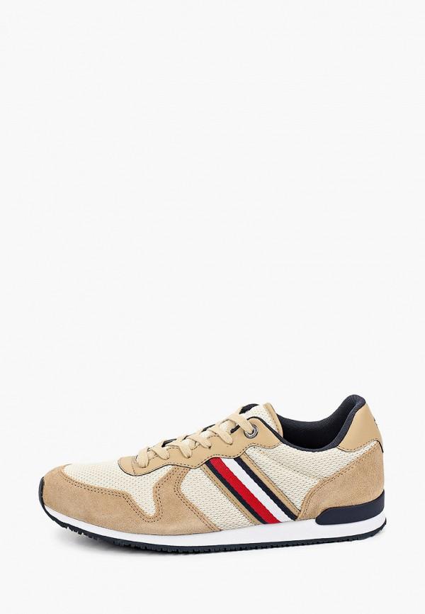 мужские низкие кроссовки tommy hilfiger, бежевые